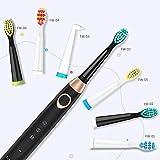 Elektrische Zahnbürste wiederaufladbare Schallzahnbürste mit 3 Bürstenköpfe 3 Modi IPX7 Wasserdicht 30 Tage Akkulaufzeit Smart Timer schwarz FW508 von Fairywill