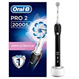 Oral-B PRO 2 2000 Elektrische Zahnbürste mit visueller Andruckkontrolle für extra Zahnfleischschutz, blau