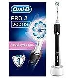 Oral-B PRO 2 2000S Elektrische Zahnbürste, mit Lithium-Ionen-Akku für mehr als 2 Wochen Putzzeit und visueller Andruckkontrolle, schwarz