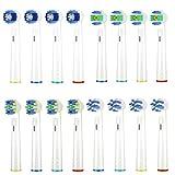 16 Stück Aufsteckbürsten Kompatible für Oral B, Ersatz Elektrische Zahnbürsten Aufsätze für Oral B 16er, Precision Clean,Weißere Zähne