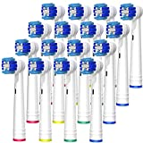 BELADENT Aufsteckbürsten für Oral-B elektrische Zahnbürsten, 16 Stück Aufsätze