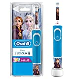 Oral-B Kids Frozen Elektrische Zahnbürste mit Disney-Stickern, für Kinder ab 3 Jahren, blau