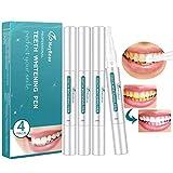 Zahnaufhellung Stift MayBeau Bleaching Stift mit Aluminiumgehäuse Aufhellungsstift für Weiße Zähne Natürlich Aufhellen und Zähne Bleichen effektiv Flecken entfernen 4PC(Frei von Peroxid)