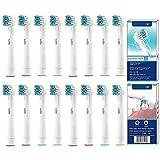 YanBan 16PCS Zahnbürstenkopf Ersatz-Zahnbürstenköpfe kompatibel für Oral B elektrische Zahnbürste Cross and action Floss and action Vitality 3D